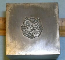 Antique 1915 ODD FELLOWS REBEKAH DDP Badge Stamping Die *MC LILLEY