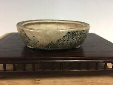 "Shohin Size Daisuke Sano Bonsai Tree Pot For Mame Or Accent. 3 1/2"" Great Patina"