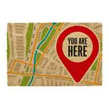 You Are Here Large Indoor Outdoor Mat Non Slip Coir Doormat Front Door Matt Rug