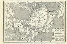 1931 North Pole Original Antique Print map