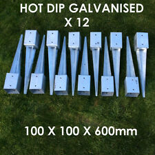 """12 X 100mm 4"""" FENCE POST SPIKE METAL SPIKES  STAKES GARDEN FENCE ANCHOR SPIKE"""