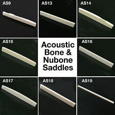 High Quality Solid Bone Nubone Acoustic Guitar Saddle AS