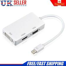 Mini Display Port Thunderbolt to VGA DVI HDMI Adapter For MacBook Pro Mac Air UK