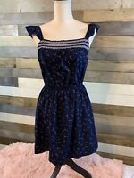 Women's Dress. Navy Blue/Arrow Print. NWT. Size XS