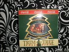 "1990 ""Coca Cola"" Christmas Ornament From The Trim A Tree Collection N2085"