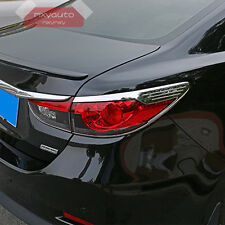 New ABS Chrome Trim Rear Tail Light Cover For Mazda 6 Atenza 2014 2015 2016 2017