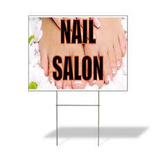 Weatherproof Yard Sign Nail Salon A Outdoor Advertising Printing Lawn Garden