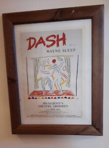 Hockney Reprint Poster Of Dash With Wayne Sleep In Aberdeen