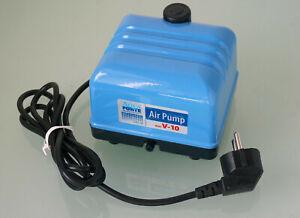 Aquaforte Hi-Flow Luftpumpe V-10, 4 l/min, sehr leise, 10 W