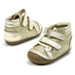 Baby Girl Shoes Old Soles Glamster Pave Gold Toddler Sneakers New