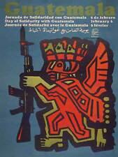 Propaganda Cuba Guatemala Revolución Maya rifle solidaridad Poster Print BB2428B
