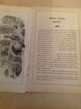 k2-6 ephemera 1879 Article Outwell  Church Norfolk 3 Pages