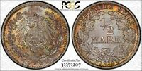 Germany - Empire 1918 D 1/2 Mark PCGS MS66 - Peripheral Highlighting