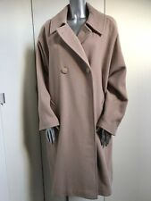 Planet Wool And Cashmere Bat Wing  Loose Swing Camel Coat UK 12