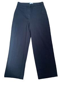 "& Other Stories Black Jeans Size 14 (40) L28"" High Waist Wide Leg Stretch Cotton"