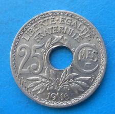 25 centimes Lindauer 1916 cmes soulignés , RARE