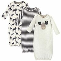 Touched by Nature Organic Gowns 3-Pack, Moose