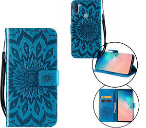 Galaxy A11  Wallet Case Embossed Sunflower