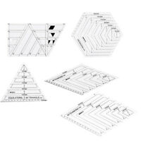 5Pc Tailor Creative Grids Ruler Patchwork Triangle Diamond Hexagon Trapezoid