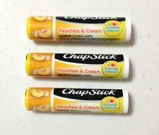 New X3 Chapstick Peaches & Cream I Love Summer Collection Lip Balm