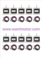 10PCS 42BYGHW811L20P1-X2,Nema17,2.5A,4800g.cm,Stepper Motor 3d Makebot printer