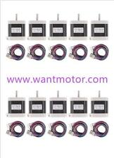【Super】10PCS 42BYGHW609L20P1-X2,Nema17,1.7A,4000g.cm,Stepper Motor 3d printer