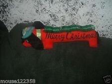 Vintage Weiner dog Christmas Decoration Japan Card Hold