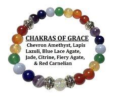 Chakras of Grace: Multi-Gemstone Stretch Bracelet