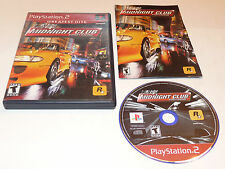 Midnight Club Street Racing Sony Playstation 2 PS2 Video Game Complete