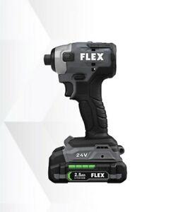 """Flex 24v 1/4"""" HEX IMPACT DRIVER KIT (FX1351-2A)"""