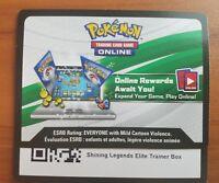 Pokemon Cards Shining Legends Elite Trainer Box Code - Fast Receive!