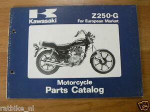 KAWASAKI Z250-G MOTORCYCLE PARTS CATALOG 1981 ORIGINAL BOOK EUROPEAN MARKET