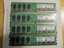 4 x 2GB Crucial CT25664AA667 Desktop Memory 240 Pin DDR2 677 PC2-5300U 8GB Total