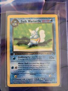 Dark Wartortle Uncommon Pokemon Card 1st Edition Team Rocket 46/82