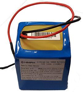 lithium ion battery 12v 12Ah  70mm x 70mm x 90mm high