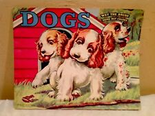 "Vintage Saalfield Pub. Co.  ""Dogs"" 1952 Unused Wet The Brush Paint/Coloring Book"