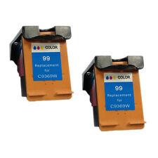 Reman Ink Cartridge for HP 99 Photosmart C4480 C4580 C4599 Printers (2 Color)