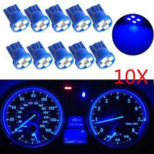 10x T10 Wedge 4-SMD LED Dashboard Blue Light W5W 194 168 2825 Gauge Cluster Bulb