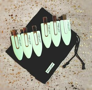 HARRY JOSH Pro Tools Makeup & Wave Setting Clips~(6 Clips) x/ Drawstring Bag~New