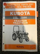 Kubota Tractor Illustrated Parts List L2350