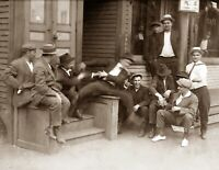 "1916 Hanging Out at the Saloon, MA Vintage Photograph 8.5"" x 11"" Reprint"