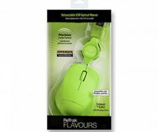Retrak Flavours Green Retractable Optical Mouse