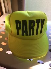 Party Snapback Neon Yellow Trucker Hat Birthday