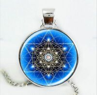 Galaxy Psychedelic Boho Pendant Necklace Indian Art Mandala Om Hippy Buddhist