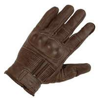 RICHA SHADOW BROWN LEATHER RETRO SHORT NON-WATERPROOF URBAN MOTORCYCLE GLOVES