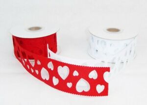 Tape Cloth Perforated Hearts CMS 4X5 MT Belts Fabric For Wedding Favors DIY