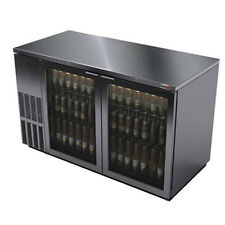 "Fagor Fbb-69Gs 69.63"" Stainless Refrigerated Back Bar Cabinet- 2 Glass Doors"