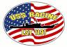 USS RACINE LST 1191 Oval Decal / Sticker Military USN U S Navy