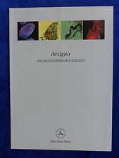 Mercedes-Benz designo Ausstattungen & Farben - Prospekt Brochure 02.1998