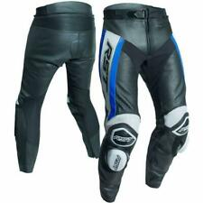 RST Tractech Evo R Leather Sports Motorcycle Motorbike Trousers - Black / Blue